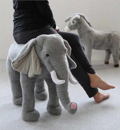 座れるゾウ。 ANIMAL STOOL ゾウ - まとめのインテリア / デザイン雑貨とインテリアのまとめ。