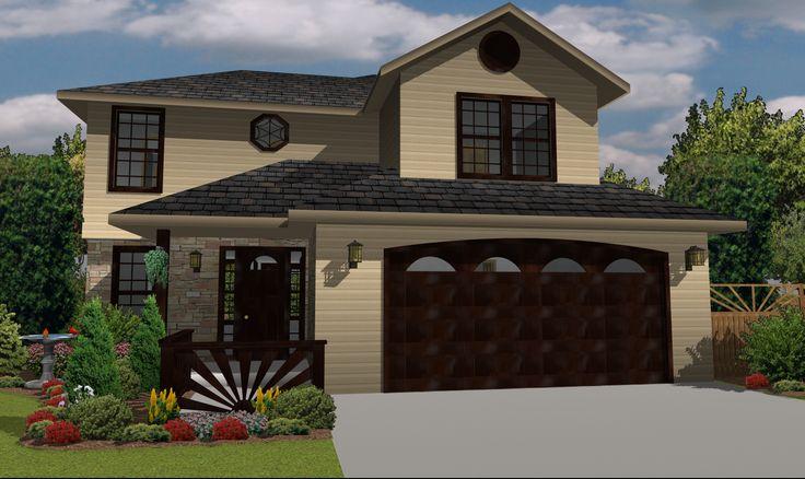 House CAD Model | Created in TurboFloorplan 3D Home & Landscape v17 | #Home #Design #Software, #Floorplan, #3D #Model, #Rendering