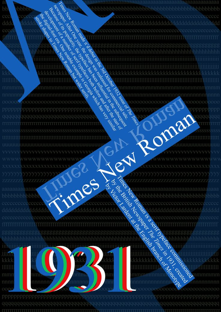 Times New Roman Typography © William Dunn