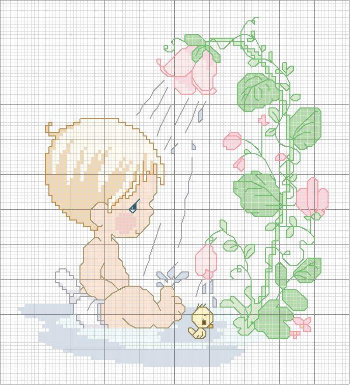 Schema punto croce Bebe-3