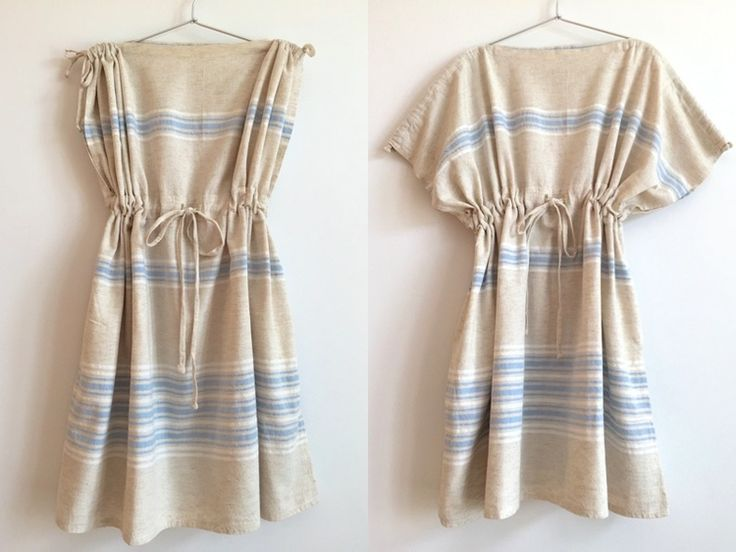 Light Blue Changing Dress, Changing Towel, Beach Coverup made of Turkish Pestemal by Aloha Picnic.