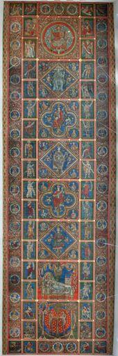 Hildesheim, St Michaels Church. Painted wooden ceiling, c 1200