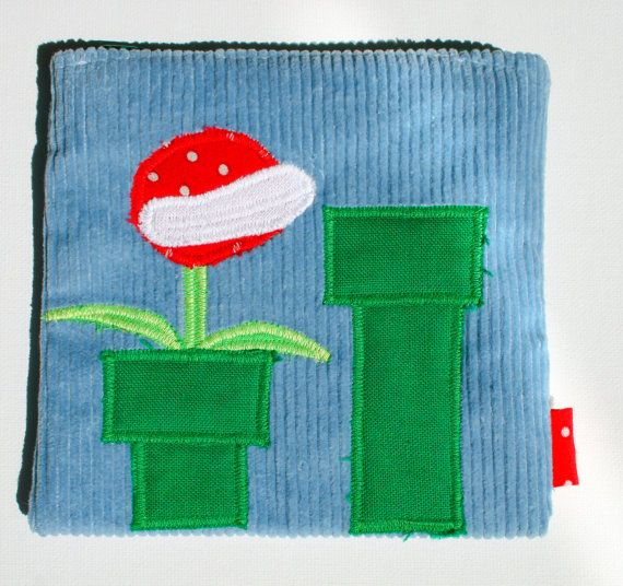Piranha Plant #Zipper Pouch, Handmade in Norway, Piranha Plant from Mario games, Quality Crafts, Make-up bag, Wallet, Video Game Accessory