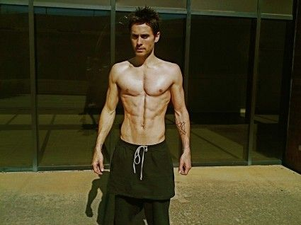 As long as Jared Leto's half naked, I don't mind that he's wearing skirt. Delicious.