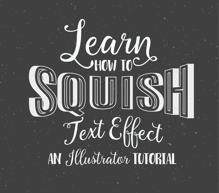 In this tutorial I am going to show you how to create a squished 3D ...