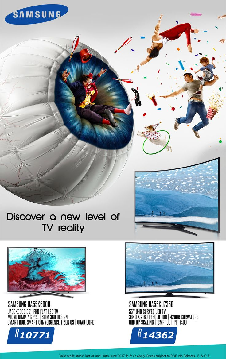 20% Discount on Samsung TV's - special