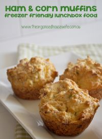 Ham and Corn Muffins » The Organised Housewife