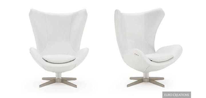 The Note Chair by Natuzzi reflects the Natuzzi Cocoon Philosophy that pushes research towards the design of new living spaces, to escape the chaos and stress of the outside world. A contemporary take on Arne Jacobsen's Egg Chair at Rapport Furniture www.rapportfurniture.com