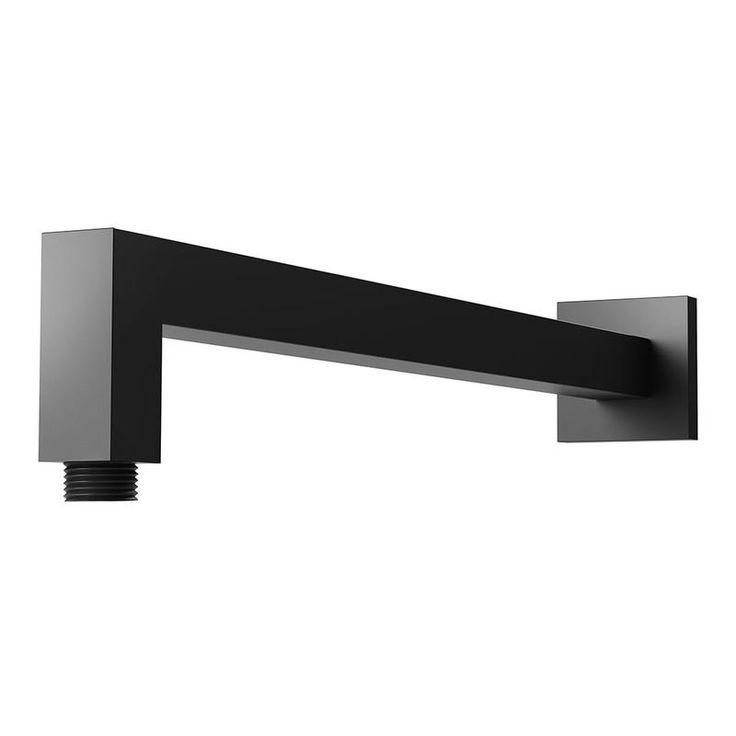 Lexi Shower Arm Only 400mm (Square) (Matte Black) | Online Bathroomware