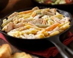Poêlée de penne au poulet et aux petits légumes (facile, rapide) - Une recette CuisineAZ