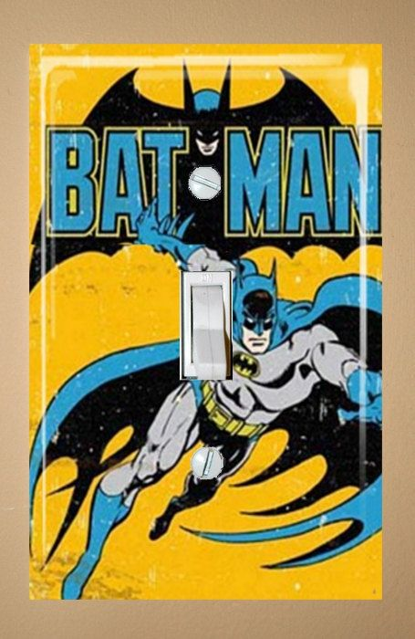 Batman Light Switch Wallplate Cover by SmittensDesigns on Etsy