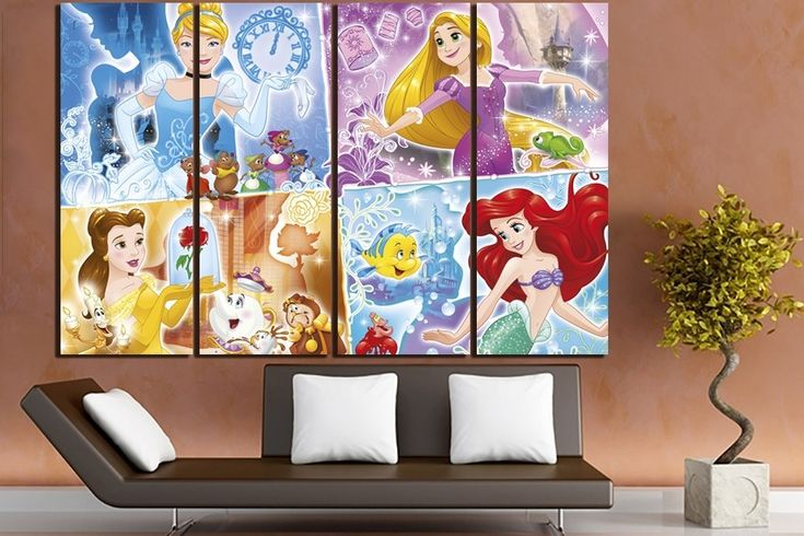 #princesses #Ariel #Belle #Cinderella #Cartoon #Disney #Movie #Children #Kids #handmade #poster #gift #bedroom #design #picture #interior #office #house #panel #Decor #print #art #canvas #etsy #4youcanvas⠀ https://buff.ly/2CxC0MQ