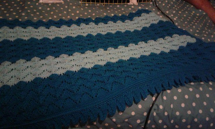 Blanket knitted for my grandson Keagan