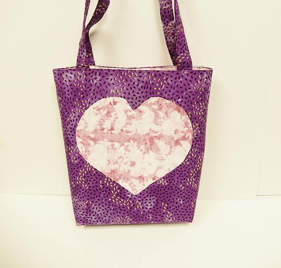 Tote with Heart Shopping Bag Travel Bag Heart Tote