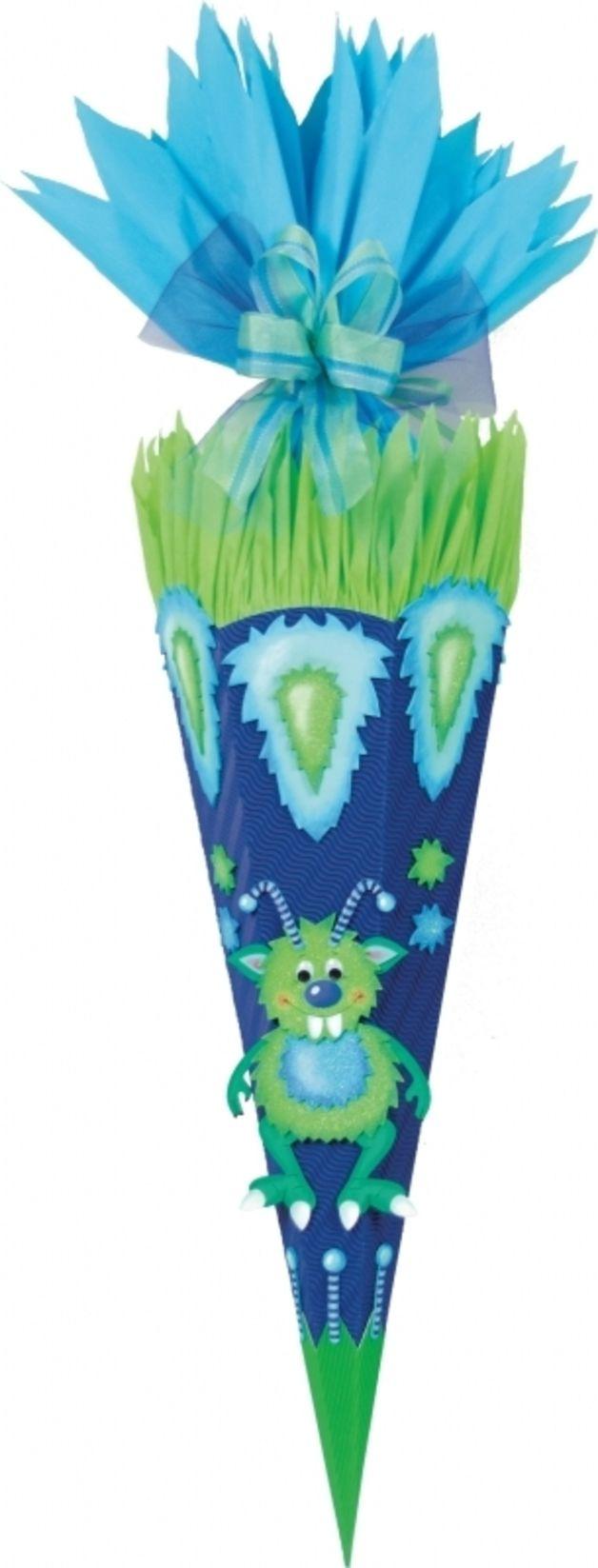 Schultüten - Handgefertigte Schultüte * Monster Zac * - ein Designerstück von bastelstuebel2011 bei DaWanda