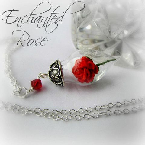 925 Rose Terrarium Necklace