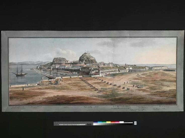View of old fort and esplanade 1806