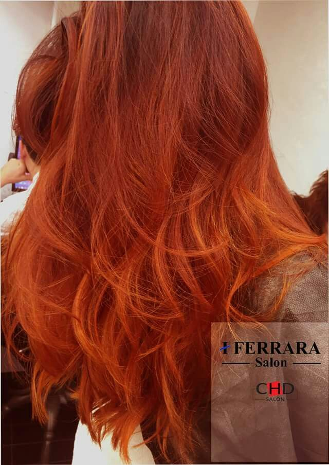 #hair #colore #loreal #red