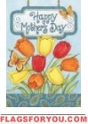 Mother's Day Tulips House Flag