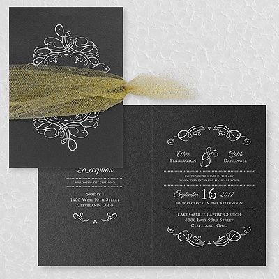 100 best black and white wedding invitations images on pinterest galleria invitation black shimmer option 2 stopboris Image collections