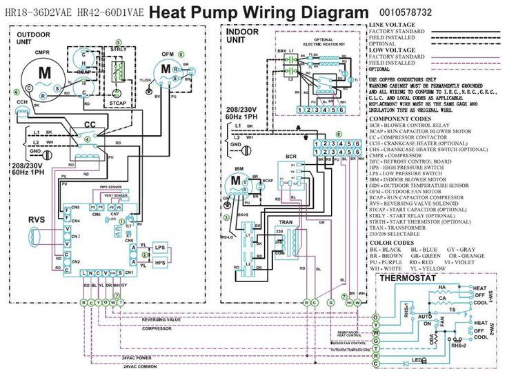Trane Heat Pump Wiring Diagram   Heat pump pressor Fan wiring   Projects to Try   Heat pump
