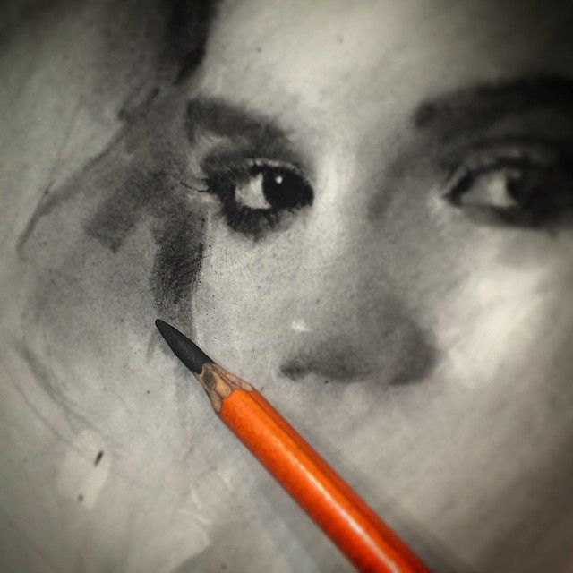 Instagram media by caseybaugh - Sketching through the night. ➰ #art #charcoal #wip