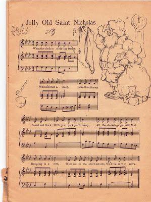 Maximum Embellishment: JOLLY OLD ST NICHOLAS - A VINTAGE SONGSHEET 1958
