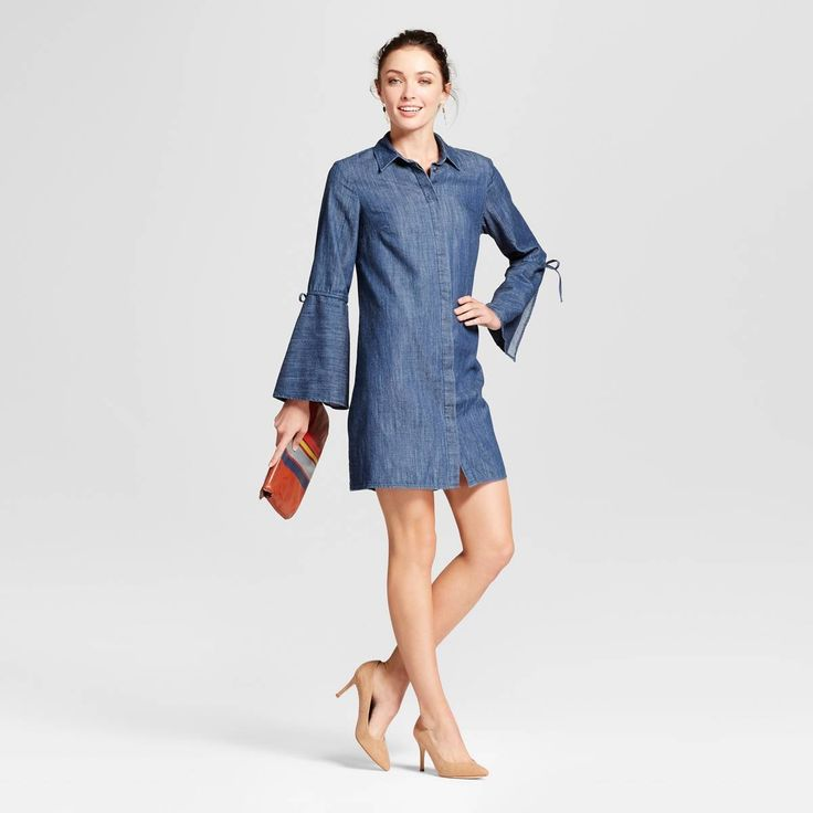 This A New Day Bell-Sleeve Denim Shirt Dress ($30) is adorable.
