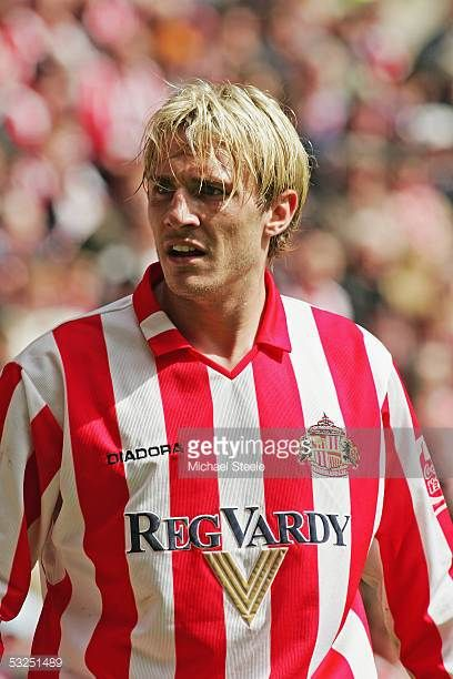 Liam Lawrence of Sunderland during the Coca Cola Championship match between Sunderland and Stoke City at the Stadium of Light on May 8 2005 in...