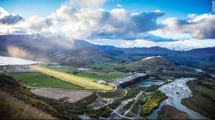 Queenstown Airport is the only international airport in the south-western area of New Zealand's South Island, says PrivateFly. Located in the heart of New Zealand's magical landscapes of mountains, lakes and wild rivers, there's little surprise it was voted the world's most scenic airport approach.