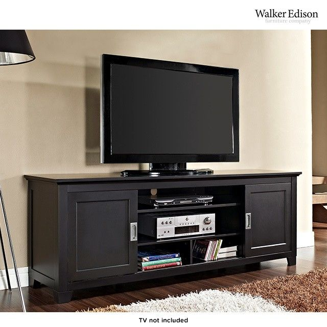 70 Quot Tv Stand With Sliding Doors With Images Living Room Tv Stand Sliding Door Tv Stand Tv Stand Wood