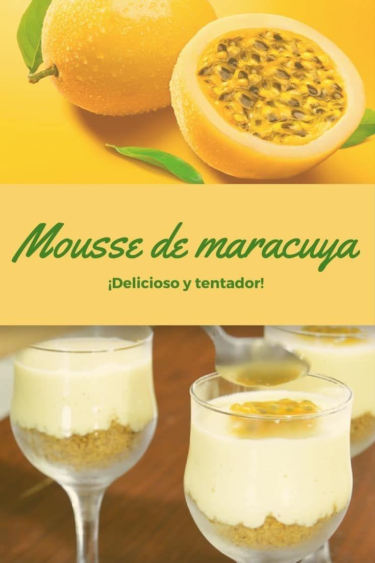 Mousse de chinola o maracuya fácil y delicioso