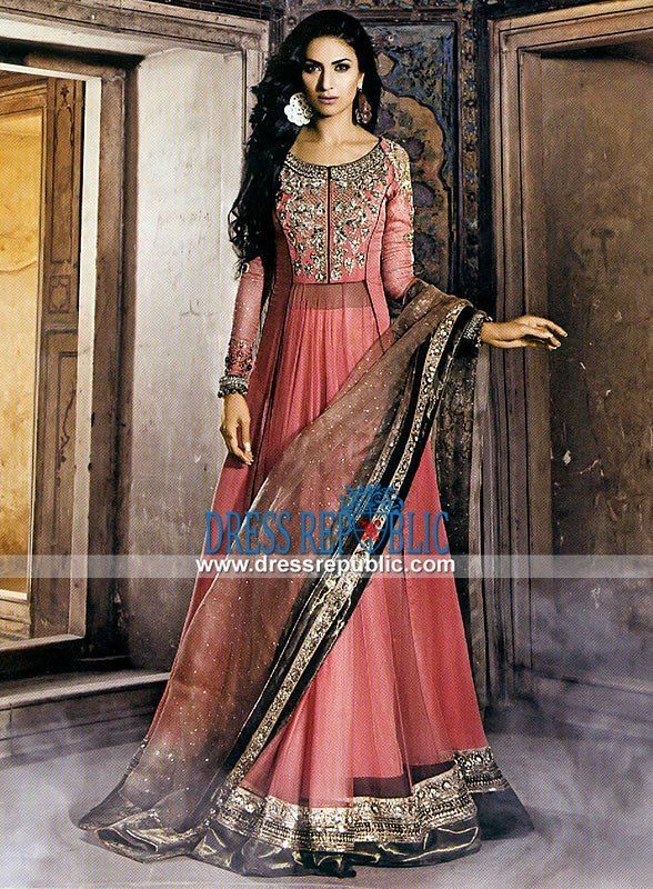 Anarkali Shalwar Kameez Suit 2015 in Pink
