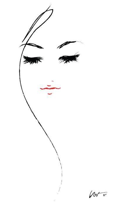 Fashion illustration #modeillustration Hairstyle Pinned