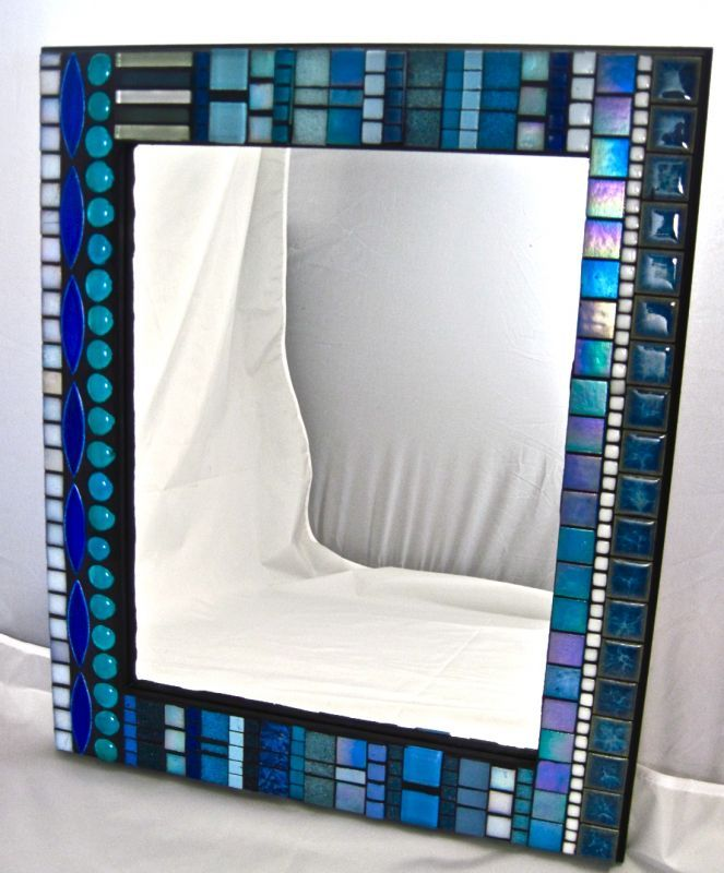 How To Decorate A Mirror With Mosaic Tiles Framing A Mirror With Mosaic Tile  Google Search  Decorating