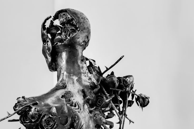 """""""Ephemeral"""" by sculptor Regardt van der Meulen.  It is made out of forged steel roses."""