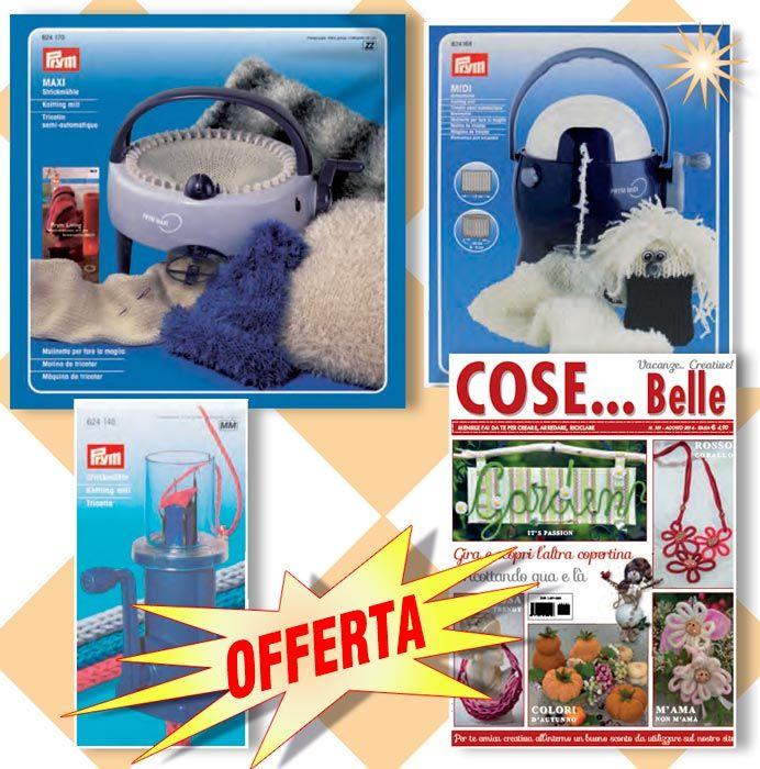 OFFERTA Tricotin Mini + Midi + Maxi + regalo! - Cose Belle by Maryline, riviste di ricamo e materiali per la tua creatività