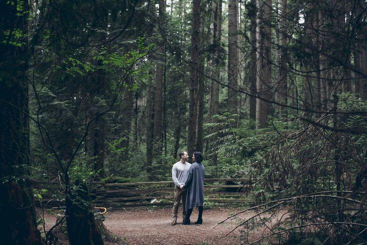 Engaged Couple at UBC Endowment Lands, Vancouver // Outdoors // Adventure // Love // Couple // Distance // Happy // Muskoka Wedding Photographer ©Eleanor Dobbins Photography