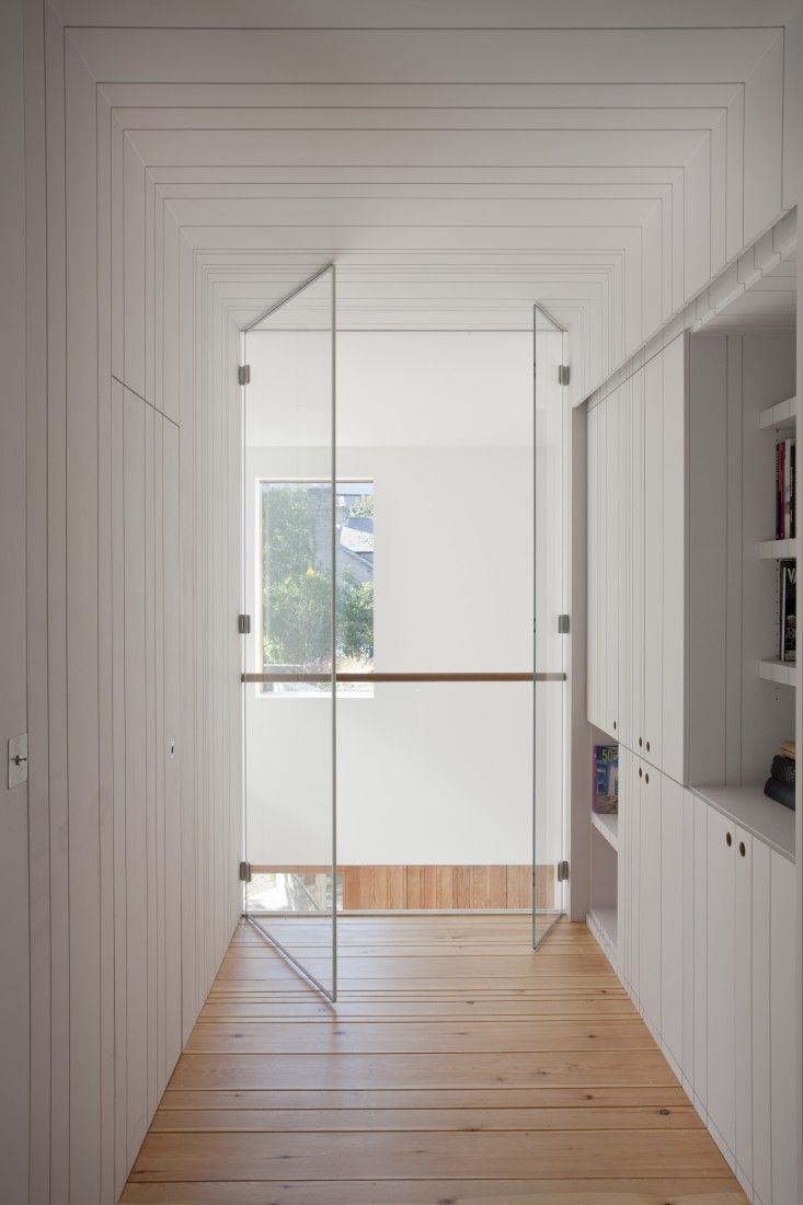 Painted routed mdf in Ballsbridge House, Dublin, Ireland by Peter Legge Architects   Remodelista