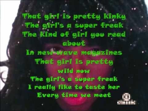 Rick James Super Freak (Lyrics)