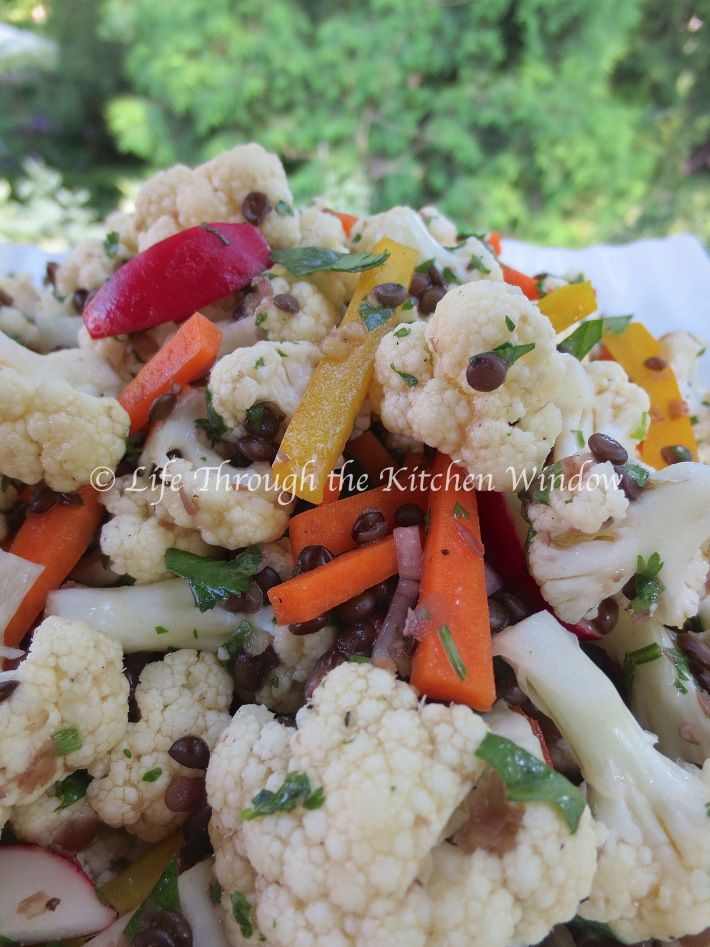 Asian-Inspired Cauliflower & Beluga Lentil Salad   © Life Through the Kitchen Window