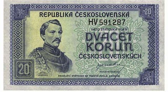 20 Czecho-Slovakian crowns (1945)