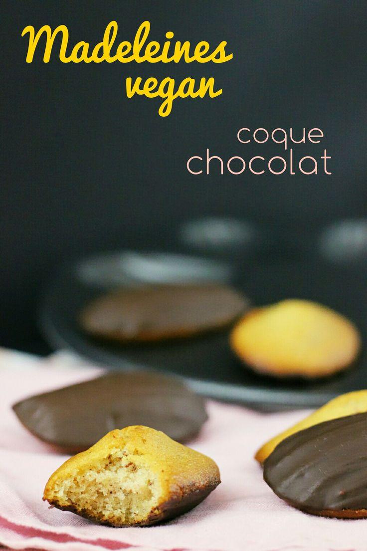 Madeleines vegan, coques en chocolat. Une recette simple et bluffante, avec un vrai goût d'enfance !
