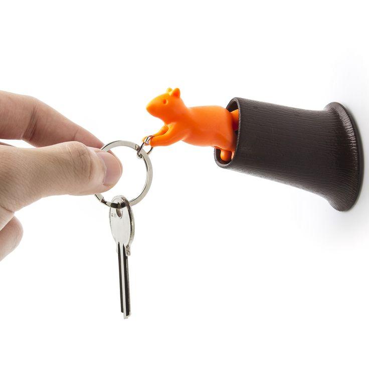 Schlüsselanhänger Squirrel Keyring, orange-braun | Qualy Design