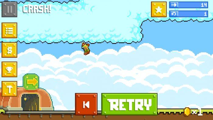 Повторите попытку снова является одним из самых горячих игр года! Вы рулевое управление хрупкая , дымчатый и едва управляемый самолет отчаянно пытается добраться до места назначения, перед тем летающих гробов кратеров в землю. Но вы, конечно, потерпит крах. Снова и снова.  Источник: http://games-topic.com/114-retry-again.html