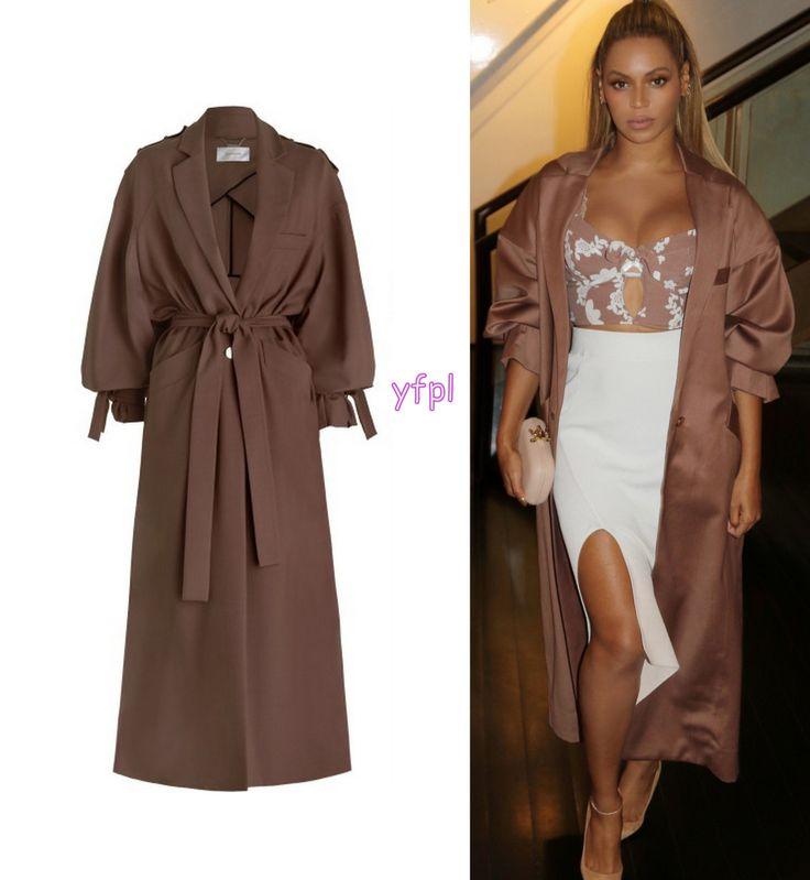 Beyoncé wearing ZIMMERMANN Lavish Trench ($1,600)