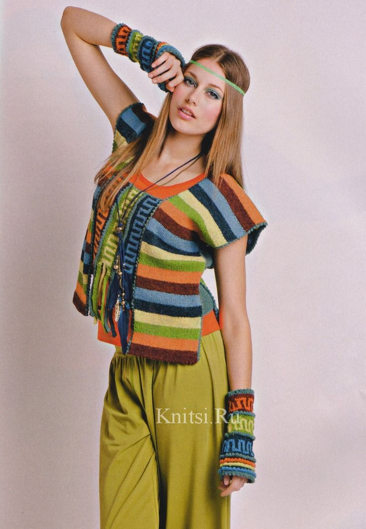 Bright top in an ethnic style and mitts. Discussion on LiveInternet - Russian Service Online Diaries