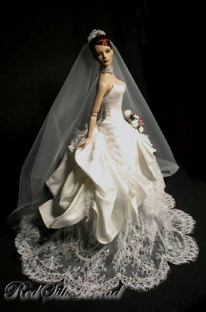 poupe robe de marie