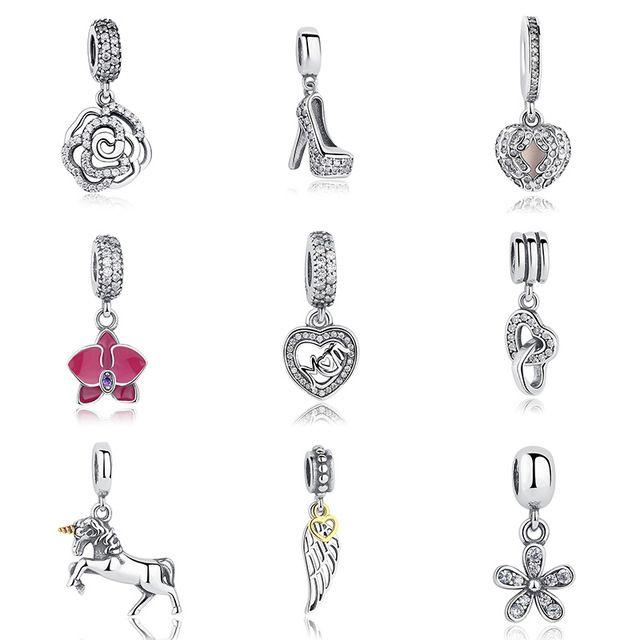 Venda hot genuine 100% de prata esterlina 925 colar de pingente charme dangle fit pulseira pandora originais autêntica jóia presente da mamã