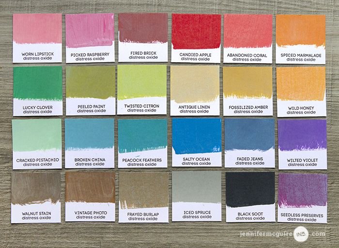 Pin Mini Distress Ink Color Chart Images to Pinterest